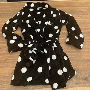 Victoria Secret PINK Black & White Polka Dots XS